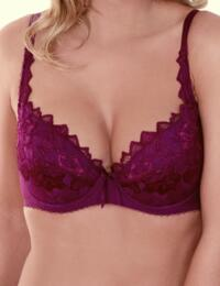 0932000 Lepel Fiore Padded Plunge Bra - 0932000 Deep Berry