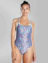 810909B620 Speedo H2O Active Astro Pop Loopback Swimsuit - 810909B620 Pink/Grey