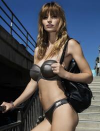 4443 Freya Mercury Bandeau Bikini Top Gunmetal - 4443 Bandeau Top