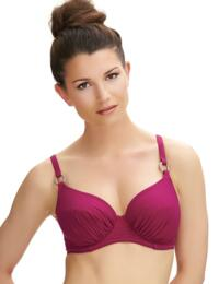 6273 Fantasie Viana Gathered Full Cup Bikini Top Berry - 6273 Full Cup Bikini Top