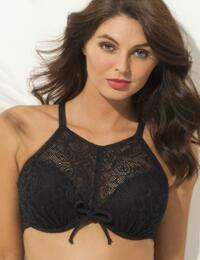 65011 Pour Moi? Puerto Rico High Neck Underwired Padded Bikini Top - 65011 Black