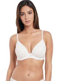 5013 Freya Soiree Lace Padded Plunge Bra  - 5013 White