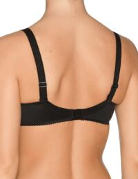 0161330 Prima Donna Satin Underwired Seamless Non-Padded Full Cup Bra - 0161330 Black