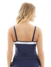 SW1091 Panache Anya Cruise Underwired Moulded Bandeau Tankini Top - SW1091 Navy/White