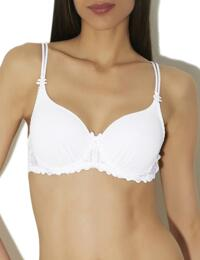 YA09 Aubade Jardin Des Delices Underwired Moulded Spacer Cup T-Shirt Balcony Bra - YA09 White