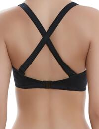 3955 Freya Remix Underwired Banded Convertible Plunging Halterneck Bikini Top - 3955 Black