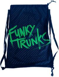 FTG010A00771 Funky Trunks Mesh Gear Bag - FTG010A00771 Still Black