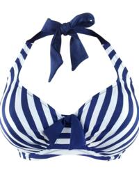 32002 Pour Moi? Board Walk Underwired Halterneck Bikini Top - 32002 Navy/White