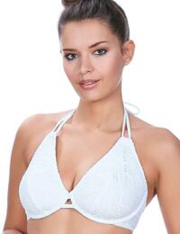 3971 Freya Sundance Underwired Bandless Halterneck Bikini Top - 3971 White