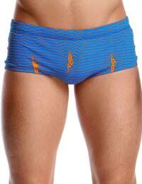FT01M02000 Funky Trunks Mens Ocean Swim Swimming Trunks - FT01M02000 Ocean Swim