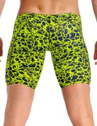 FT37M01967 Funky Trunks Mens Coral Gold Training Jammers - FT37M01967 Coral Gold