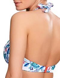 SW0875 Panache Elle Halterneck Bikini Top - SW0875 White/Tropical