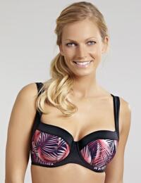 SW1172  Panache Aspen Padded Balconette Bikini Top - SW1172 Palm Print