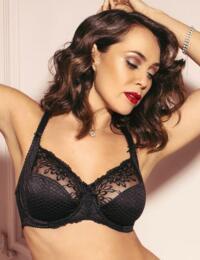 3829 Pour Moi Hepburn Embroidered Side Support Bra - 3829 Black