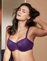 0241572/0241573 Prima Donna Twist Tough Girl Underwired Padded Balcony Bra - 0241572/0241573 Purple Sparkle