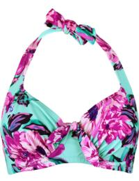 86002 Pour Moi Heatwave Underwired Halterneck Bikini Top - 86002 Aquaburst