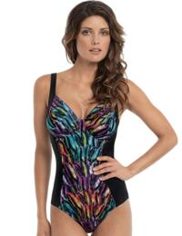 SW0740 Panache Tallulah Swimsuit Feather Print - SW0740 Feather