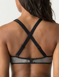 8000119 Prima Donna Myla Dalbesio Padded Triangle Halter Bikini Top - 8000119 Black/Silver