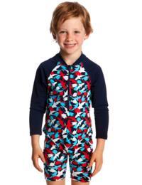 FTS00T Funky Trunks Toddler Boys Go Swim Jump Suit - FTS00T01795 Feeding Frenzy