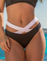 72003 Pour Moi Ying Yang Strapped Brief - 72003 Black/White