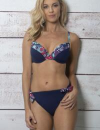 182060 Pour Moi Positano Padded Bikini Top - 182060 Navy/Paisley
