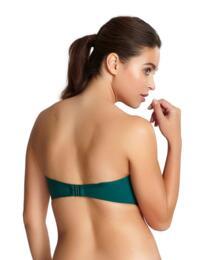 SW0884 Panache Anya Twist Bandeau Bikini Top - SW0884 Forest