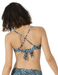10207685 Sloggi Women Shore Koh Tachai Bandeau Bikini Top - 10207685 Blue/Dark Combination