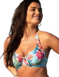 Pour Moi Heatwave Halter Underwired Top Tahiti