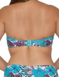 Curvy Kate Hibiscus Bandeau Bikini Top in Print Mix