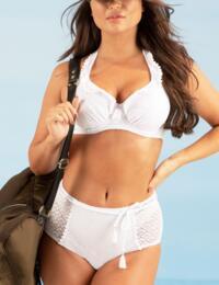 Pour Moi Castaway Control Bikini Brief in White