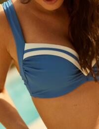 Panache Portofino Balcony Bikini Top Denim/Ivory