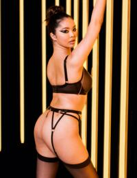 Scantilly by Curvy Kate Unchained Suspender Belt Black