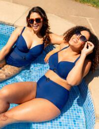 CS019300 Curvy Kate Retro Sun Balcony Bikini Top - CS019300 Navy