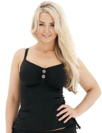 CS1906 Curvy Kate Luau Love Tankini Top - CS1906 Black