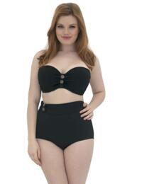 CS1941 Curvy Kate Luau Love Bandeau Bikini Top - CS1941 Black