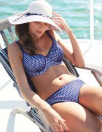 SW0862 Panache Eadie Balcony Bikini Top - SW0862 Navy/White