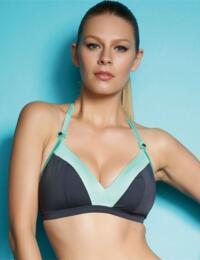 3173 Freya Samba Triangle Bikini Top Graphite - 3173 Triangle Top Graphite
