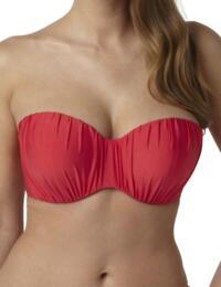 SW0833 Panache Marina Bandeau Bikini Top - SW0833 Red