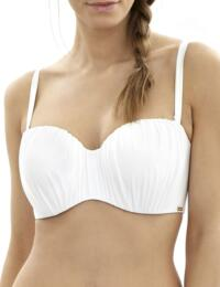 SW0833 Panache Marina Bandeau Bikini Top White - SW0833 Bandeau Top