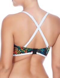 3984 Freya Club Tropicana Bandeau Bikini Top Midnight  - 3984 Midnight