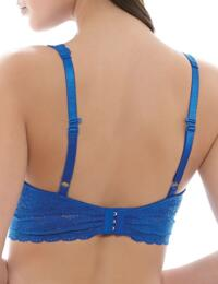811205 Wacoal Halo Lace Soft Cup Non Wired Bra  - 811205 Deep Sea Blue