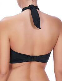 3872 Freya Deco Swim Multiway Bandeau Bikini Top Black - 3872 Bandeau Bikini
