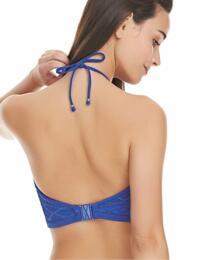 3973 Freya Sundance High Neck Crop Bikini Top - 3973 Cobalt