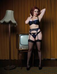 ST2504 Scantilly by Curvy Kate Invitation Suspender Belt - ST2504 Blueberry/Black