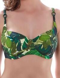6125/6126 Fantasie Kuranda Balcony Bikini Top Deep Jungle  - 6125/6126 Balcony Top