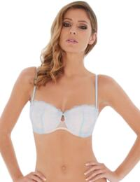 1604040 Lepel London Tiff Balcony Bra - 1604040 Blush/Powder Blue