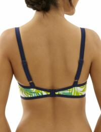 CW0224 Cleo Avril Balcony Bikini Top - CW0224 Palm Print