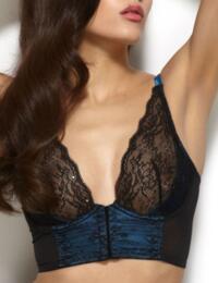 17915a39e6 ... 11915 Gossard VIP Olympia Bralette Black Blue - 11915 Bralette ...
