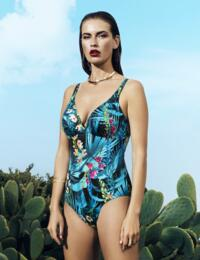 6110 Fantasie Seychelles Deep Plunge Control Swimsuit Azure - 6110 Swimsuit