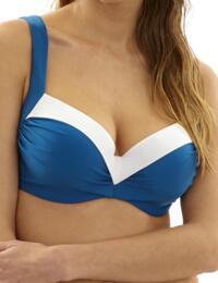 SW0952 Panache Portofino Balcony Bikini Top - SW0952 Petrol/White